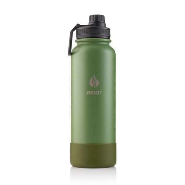 botella acero inoxidable litro verde